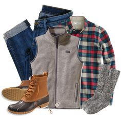 patagonia, jcrew and bean boots