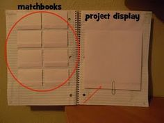 This is a great idea on creating a Dinah Zike  foldables journal. I love how it contains a different foldable on each page and pockets for vocabulary words.