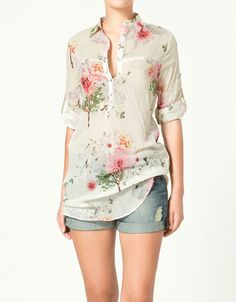 Floral blouse that i love so much Moda Floral, Romantic Outfit, Daily Fashion, Timeless Fashion, Shirt Blouses, Spring Summer Fashion, Casual Outfits, Summer Outfits, Zara