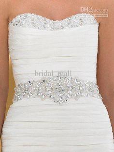 Whole Wedding Accessory Glamourous Crystal Beaded Dress Belt Lovely Sashes Fm 213