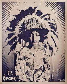 Image result for B. brave native indian street art