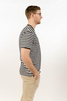Staple Stripe Tee - Black/White - BAAM Labs - 2