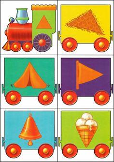 * Kleuren-vormen trein! 6-12