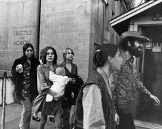 Manson Family outside the courthouse