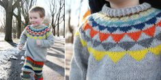 Garland Sweater with Stripy Pants - Pickles