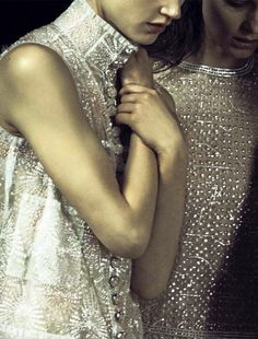 Kati Nescher and Saskia de Brauw by Peter Lindbergh for Vogue...