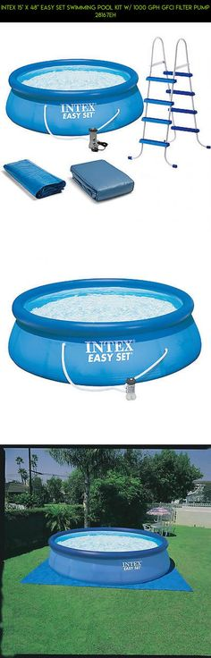 "Intex 15' x 48"" Easy Set Swimming Pool Kit w/ 1000 GPH GFCI Filter Pump 28167EH #tech #products #pools #fpv #shopping #camera #plans #15 #48 #parts #racing #gadgets #technology #drone #x #kit"