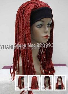 Wholesale shops **@@****New Sexy Red Braids WOMEN'S 3/4 WIG with Head band  Wig -in Wigs from Beauty & Health on Aliexpress.com | Alibaba Group