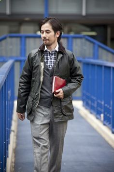 My friend Cooper has been intermittently posting pictures of Asians in Barbours the last few months. Which reminded me - Barbour jackets are great. Their classics, the Bedale and Beaufort, can be worn...