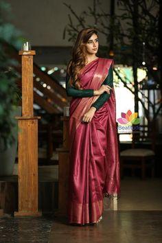 Fancy Blouse Designs, Saree Blouse Designs, Choli Dress, Blouse Dress, Formal Saree, Magenta, Saree Trends, Dress Indian Style, Stylish Sarees