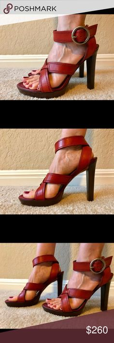 Yves Saint Laurent shoes. Yves Saint Laurent shoes used twice. Very good condition. I am actually a size 7 1/2 and they fit. I guess they run smaller than the size. Yves Saint Laurent Shoes Heels