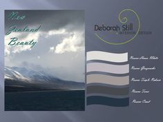 New Zealand colours from Lake Pukaki  and Resene paints are the inspiration for this colour board