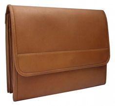 "Leather Envelope Portfolio - Saddle (Saddle) (9.5""H x 3.5""W x 13""L)"
