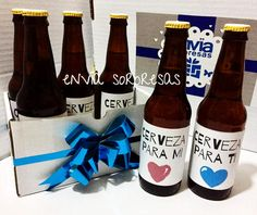 $180  KIT CERVEZAS PERSONALIZADAS   Incluye: + Six de cervezas personalizadas (a elegir) + Invitación a conbeber + Caja personalizada