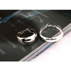 Fashion Silver Plated Circle Hoop Earrings