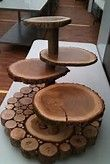 Wood Slice Cake Stand - Bing images