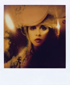 A self-portrait by Stevie Nicks - taken late at night when she couldn't sleep.  Now part of an exhibition called 24 Karat Gold