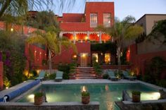 5000 square ft, walled and gated indoor/ outdoor living villa with unparalle. Mexican Interior Design, Beautiful Homes, Beautiful Places, Living In Mexico, Vacation Home Rentals, Spanish Colonial, Indoor Outdoor Living, Moorish, Renting A House