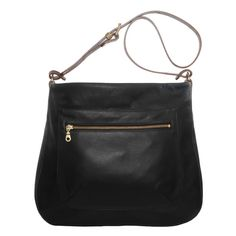 Buy Mimi Berry | Black Leather Shoulder Bag | Faye | Contemporary Art. Design Gifts. Ideas. | Everything Begins