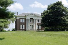 668 Lansing Lane - Located in the Midway area, Avalon Farm offers one not only a prime location but an historic, renovated home. This c.1840 Greek Revival consists of  6,570 SF and contains 4 BR and 3.5 baths. Millions of dollars have been spent restoring this magnificent home to its present day grandeur.  $2,900,000. Southern Mansions, Present Day, Restoration, Home And Family, Shed, Outdoor Structures, House Styles, Farms, Building