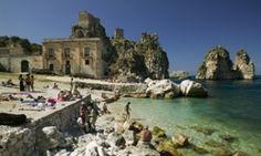 The Coastline of Italy The Tonnara (old tuna factory) at, Scopello. Sicily, Italy.