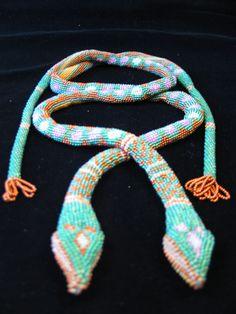 Adele Recklies' bead crocheted snakes