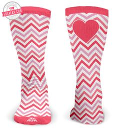 How cute are these Valentine Chevron Lacrosse socks? Adding these to my Valentine's Day wishlist!