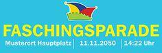 Werbebanner für verschiedene Anlässe #anlässe #faschingsparade #deko #dekoration #werbung