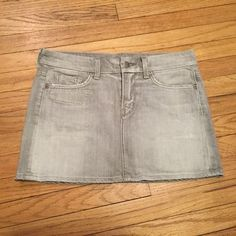 Citizens of Humanity gray denim mini skirt - sz 28 Citizens of Humanity gray denim mini skirt - sz 28. Waist - 16 inches. Length - 13 inches. Excellent condition. Citizens of Humanity Skirts Mini