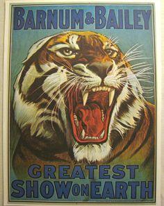 barnum & bailey circus poster art book plate