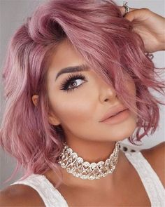 60 Stylish Edgy Pixie Cuts and Hairstyles Ideas Edgy Hair Cuts Edgy Hairstyles Ideas pixie Sty Stylish Pink Hair Dye, Hair Color Purple, Cool Hair Color, Edgy Hair Colors, Pastel Hair Colors, Rose Pink Hair, Pastel Pink, Pink Blonde Hair, Different Hair Colors