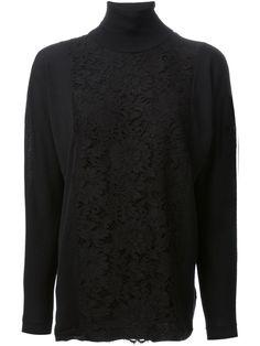 Valentino Lace Detail Sweater - Cumini - Farfetch.com