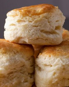 Flakiest Biscuits By Angie Thomas Recipe by Tasty - Bread Recipes Bread Recipes, Baking Recipes, Bisquit Recipes, Thomas Recipe, Homemade Biscuits Recipe, American Biscuits Recipe, Flaky Biscuits, Paula Deen Biscuits, Hardboiled