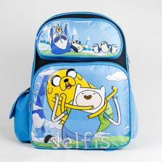 Jelfis.com - Adventure Time Large Backpack - Ice King Finn Jake 16' Boys School Book Bag, $17.99 (http://www.jelfis.com/adventure-time-large-backpack-ice-king-finn-jake-16-boys-school-book-bag/)