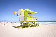 City officials unveiled Miami Beach's new lifeguard towers.