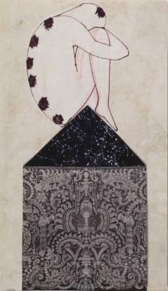 7 of DISCS very pretty 7 chakras  Francesco Clemente New York City Tarot deck images