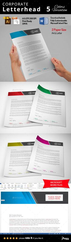 #Letterhead - #Stationery Print Templates Download here: https://graphicriver.net/item/letterhead/11654176?ref=alena994