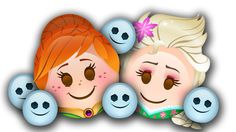 Join emoji-fied versions of Anna, Elsa, Kristoff, and Olaf.