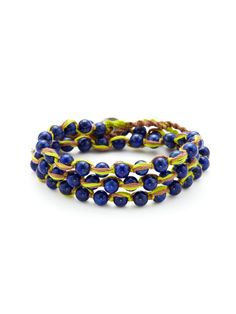 Lapis Wrap Bracelet by Chan Luu on Gilt.com