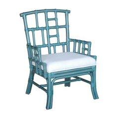 Paxton Blue Occasional Chair...with the cushion recovered...