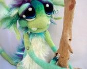 OOAK Commissioned Water Goblin Needle Felted Fantasy Soft Sculpture Art Doll Plush made to order