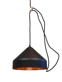 The design is adjustable in height by extending or shortening the loop of the electricity cable which come as the result of the wooden pieces. Pendant Chandelier, Kitchen Lighting, Lamp Light, Ceiling Lights, Dutch, Cable, Interiors, Inspired, Black