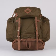Obey Uptown Mountain Backpack Forest Green / Brown