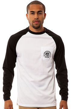 """The Cold Blooded Baseball Tee in White and Black by Crooks and Castles - $49 Use my REP CODE """"shop20discount"""" to save! 20% on first time purchases! 10% on every purchase after! #clothes #clothing #men"""