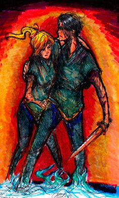 Annabeth Chase and Percy Jackson in Tartarus Solangelo, Percabeth, Percy Jackson Fandom, Percy Jackson Books, Frank Zhang, Percy And Annabeth, Annabeth Chase, Rick Y, Uncle Rick