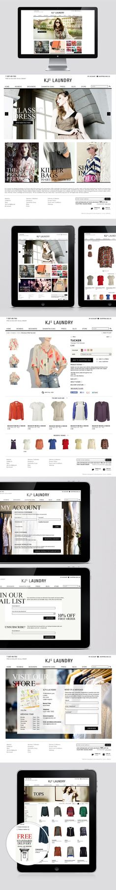 Feather & Stitch website design Ecommerce website design for London fashion boutique KJs Laundry.