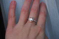 1.1ct Oval champagne yellow sapphire diamond ring by EidelPrecious