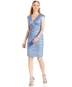$78 Jessica Howard Petite Cap-Sleeve Tiered Dress