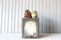 Pharmacy File Box // Industrial Storage by buffalowinter on Etsy, $22.00