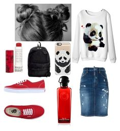 """"" by mikayla-burgess ❤ liked on Polyvore featuring Dsquared2, Vans, Korres and Casetify"